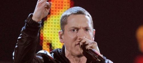 Eminem performing photo via BN library