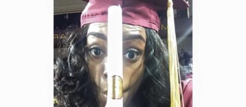 Ericka Magee posted this during graduation and received over 80K likes.
