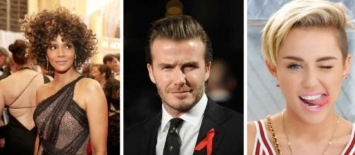Halle Berry, David Beckham e Miley Cyrus