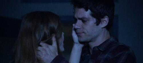 "Stiles and Lydia reuniting in the 'Teen Wolf' Mid-season Finale, ""Riders on the Storm"" (Screenshot by Rachel Foertsch via MTV.com)"