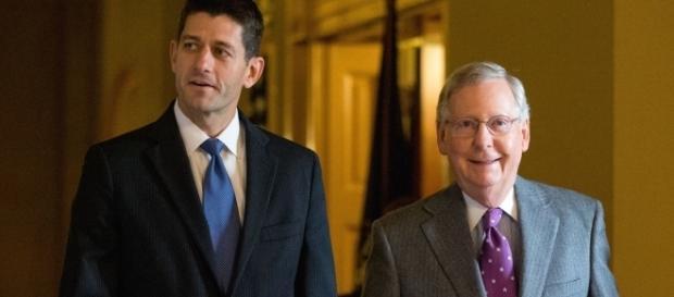 Congress: House Speaker Paul Ryan (left), Sen. Majority Leader Mitch McConnell (right) / Photo by politico.com via Blasting News library