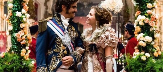 Novela ''Novo Mundo'': Dom Pedro (Caio Castro) e Dona Leopoldina (Letícia Colin)