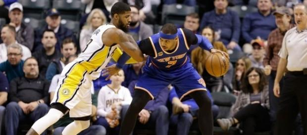 Paul George, Carmelo Anthony (Via- ASSOCIATED PRESS)