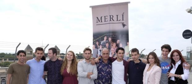 Reparto de la primera temporada de 'Merlí', en su presentación en septiembre de 2015.