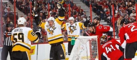 Sidney Crosby tuvo un gol y por fin pudo ser factor en la serie contra Ottawa. NHL.com.
