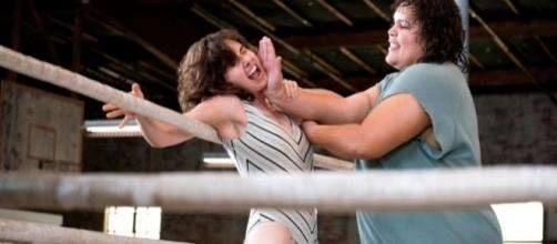 GLOW set to release soon on Netflix ...Photo screencapped via video Rollingstone. com
