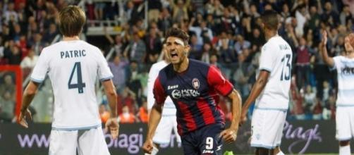 L'esultanza di Nalini dopo la doppietta alla Lazio.