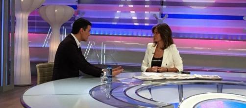 Pedro Sánchez en el programa de AR, durante la campaña electoral a las elecciones generales.