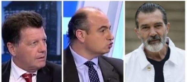 Alfonso Rojo, Manuel Marín y Antonio Banderas.
