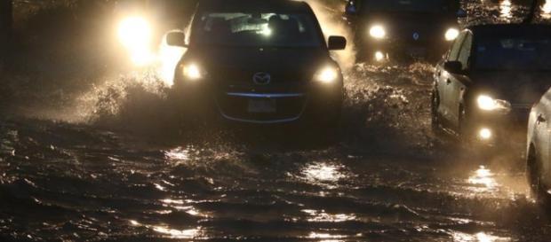 Inundaciones por la lluvia en la Cdmx.
