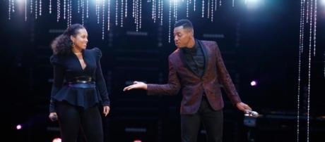 Chris Blue and Alicia Keys on The Voice finale/photo via sheknows.com