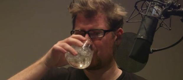 Justin Roiland Drinking His Heart Out