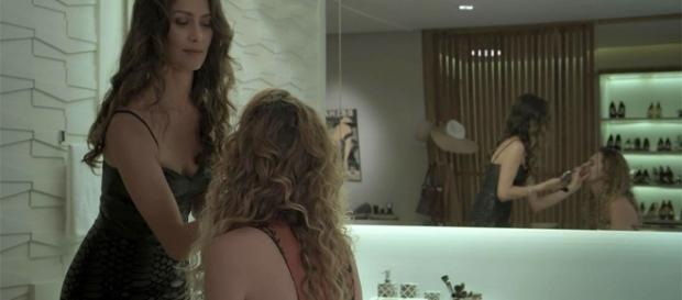 O resultado acabou não agradando a moça (Foto: TV Globo)