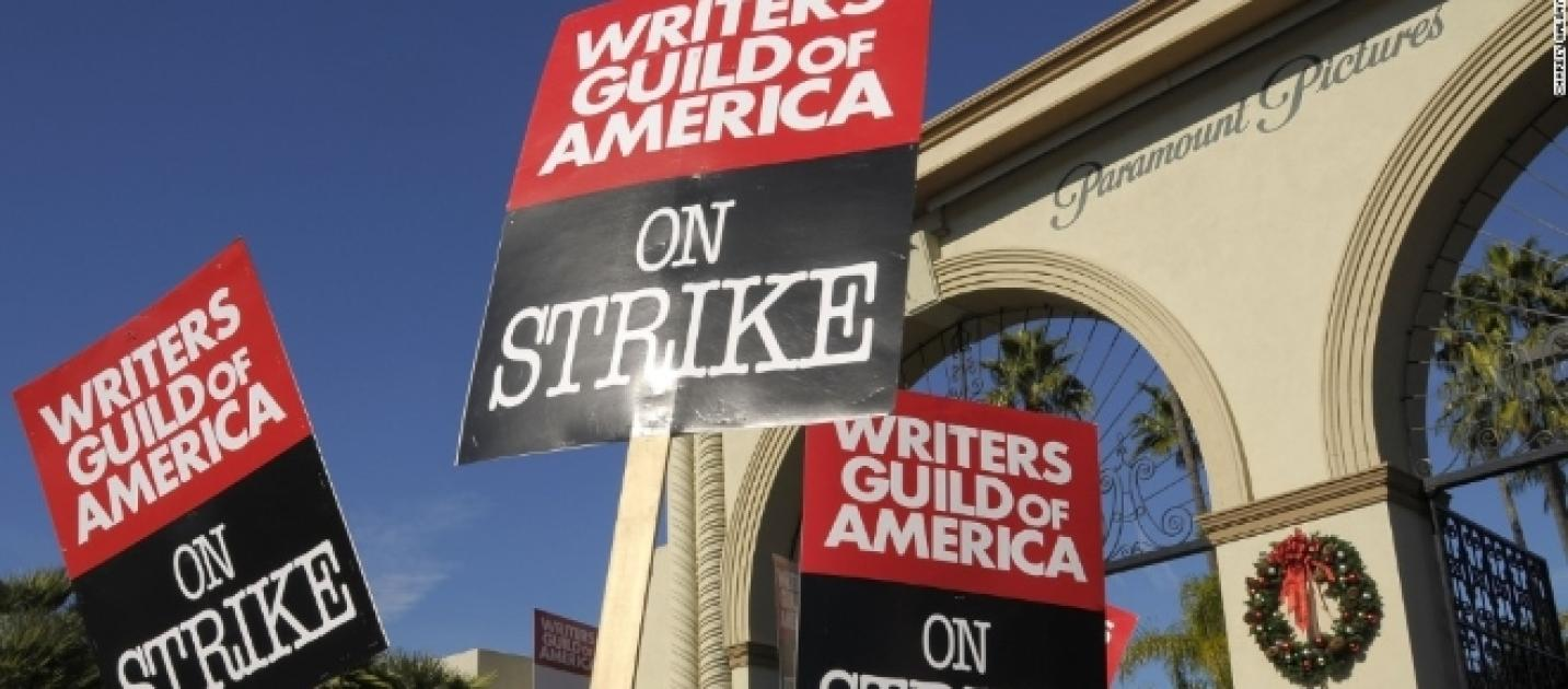 writers strike After rejecting what the alliance of motion picture and television producers (amptp) said was a final offer, representatives of the writers guild of america (wga) called a strike for all the union's members to begin at 9 a.
