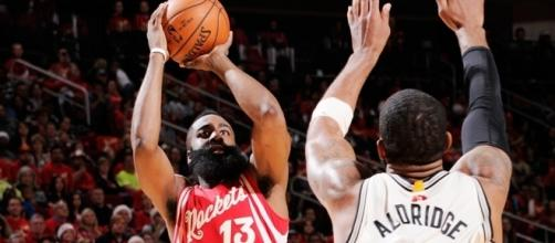 James Harden led the way for Houston, demolishing the Spurs in game 1 - si.com