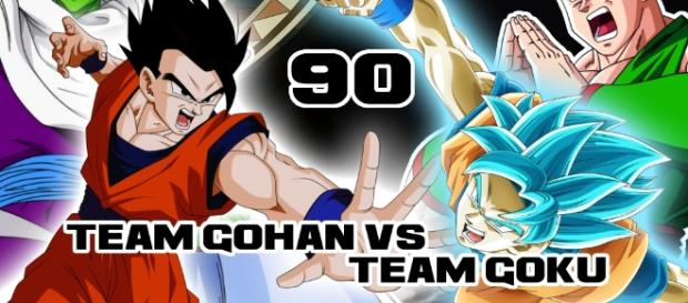 Dragon Ball Super 90: Team Gohan (Son Gohan et Piccolo) vs Team Gokû (Son Gokû et Tenshinhan)