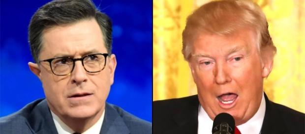 Stephen Colbert slams President Donald Trump's press conference - ew.com