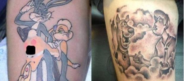 Tatuagens que vão destruir de vez a sua infância.