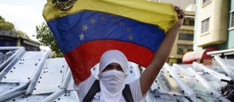 Una protesta contra Maduro en Caracas