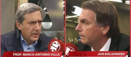 Debate vergonhoso entre Marco Antônio Villa e Jair Bolsonaro na Jovem Pan