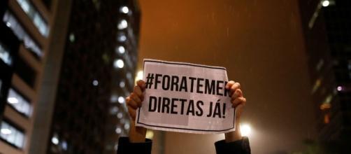 Manifestações pedem saída de Michel Temer e eleições diretas