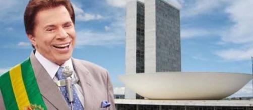 Silvio brinca e diz que, se Luciano Huck, pode ele também quer ser candidato à presidência da República