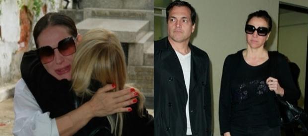 Cláudia apareceu com o marido Jarbas