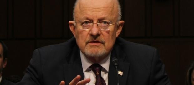 Former Director of National Intelligence James Clapper in 2012 hearing. / Photo by Medill DC via Flickr | CC BY 2.0