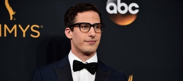 "Golden Globe Award-winning actor Andy Samberg began his comedy career with ""Saturday Night Live."" (via Alberto E. Rodriguez/Getty Images)"