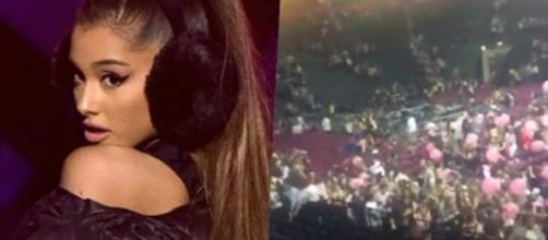Apos show da cantora pop Ariana grande um explosão aconteceu