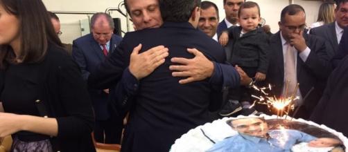 João Dória prestigia o aniversário do presidente da Igreja Assembleia de Deus, Brás Madureira (Foto: Reprodução)