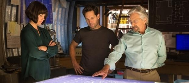 """Evangeline Lilly, Paul Rudd, and Michael Douglas are all returning for """"Ant-Man and the Wasp,"""" due in July 2018. (Zade Rosenthal/Marvel/Disney)"""