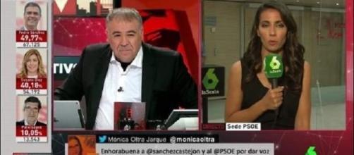Antonio García Ferreras y Ana Pastor en el especial PSOE del 21 de mayo de 2017.