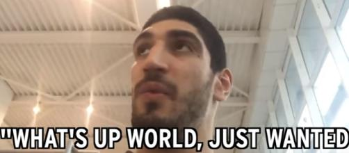 Enes Kanter, Thunder Center, Being Detained In Romania / Photo screencap from NESN via Youtube