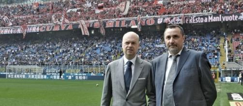 Fassone e Mirabelli allo stadio S.Siro