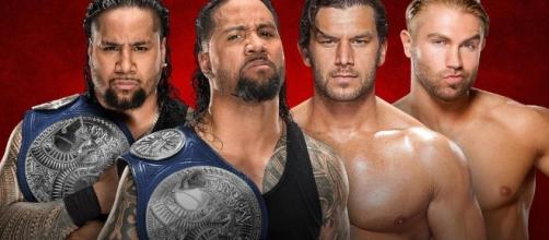 The Usos defended their tag team titles against Breezeango at 'Backlash' 2017. [Image via Blasting News image library/thedowneypatriot.com]