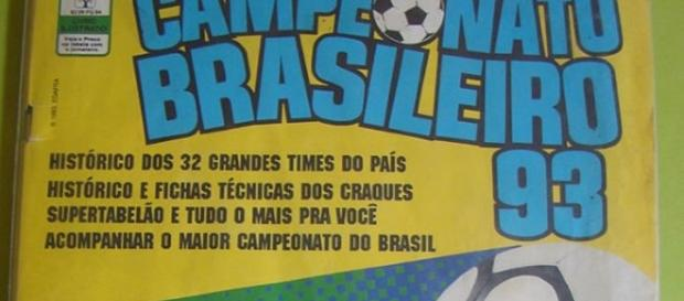 Álbum vinha com os 32 times que disputaram o Brasileirão daquele ano (Foto: Reprodução)