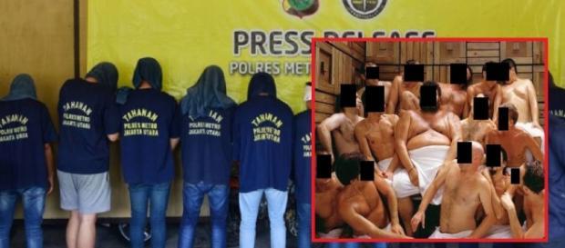 Polícia prende mais de 100 homens em sauna gay