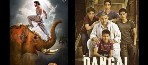 A still from Baahubali: The Conclusion and Dangal