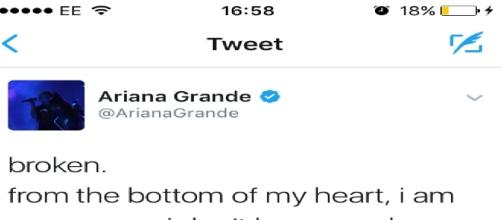 Ariana Grande's tweet has sparked a Twitter frenzy