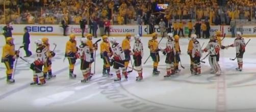Ducks and Predators shake hands after spectacular series, SPORTSNET Youtube channel https://www.youtube.com/watch?v=IJ_Y7KTB6CM