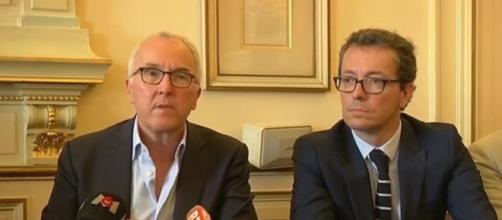 Frank McCourt et Jacques-Henri Eyraud, les deux patrons de l'OM