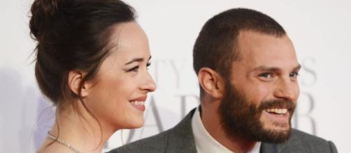 Jamie Dornan and wife are facing issues with their marriage due to rumors linking Dornan to Dakota Johnson. Photo - popsugar.com