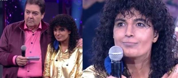 Faustão erra o nome de Emanuelle Araújo (Reprodução Rede Globo)