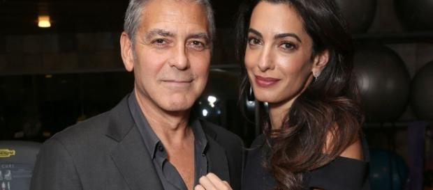 George and Amal Clooney are expecting the coming of baby twins soon! Photo - popsugar.com