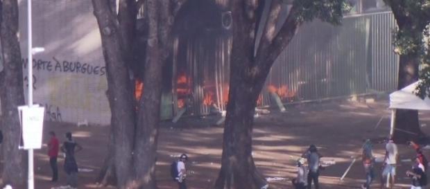 Incêndio no Ministério da Fazenda e da Agricultura