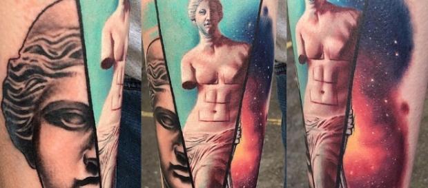 Tatuagens inpiradas em obras de arte. Fonte: Reprodução/Instagram