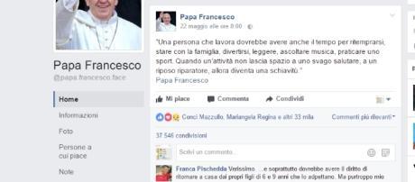 Il messaggio sul lavoro di papa Francesco