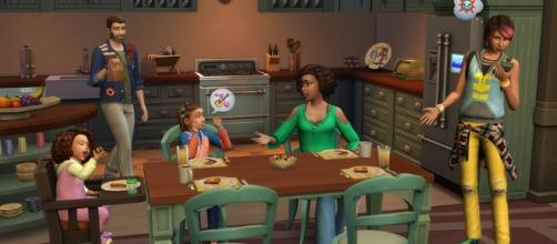 A screenshot from 'The Sims 4: Parenthood Game Pack' showing the household [Image by Electronic Arts and Maxis]