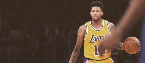 Brandon Ingram of the Los Angeles Lakers dribbles the ball. Photo by Facebook/Brandon Ingram @1ngr4am